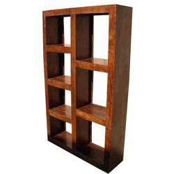 Solid Wood Modern Display Rack Cube Bookcase Shelf Room Divider