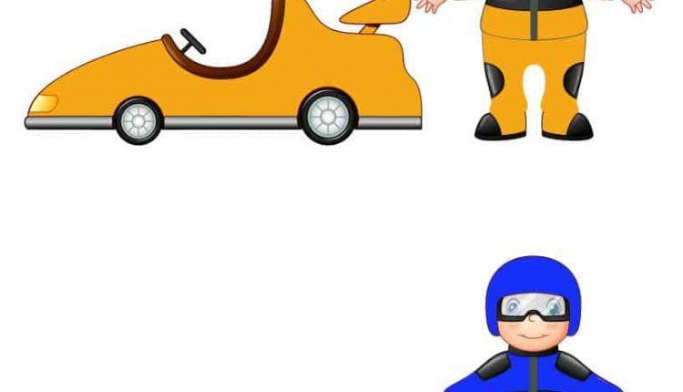نشاط مطابقة السائق مع السيارة حسب اللون لتمييز الألوان للأطفال المعلمة أسماء Toy Car Wooden Toys Wooden Toy Car