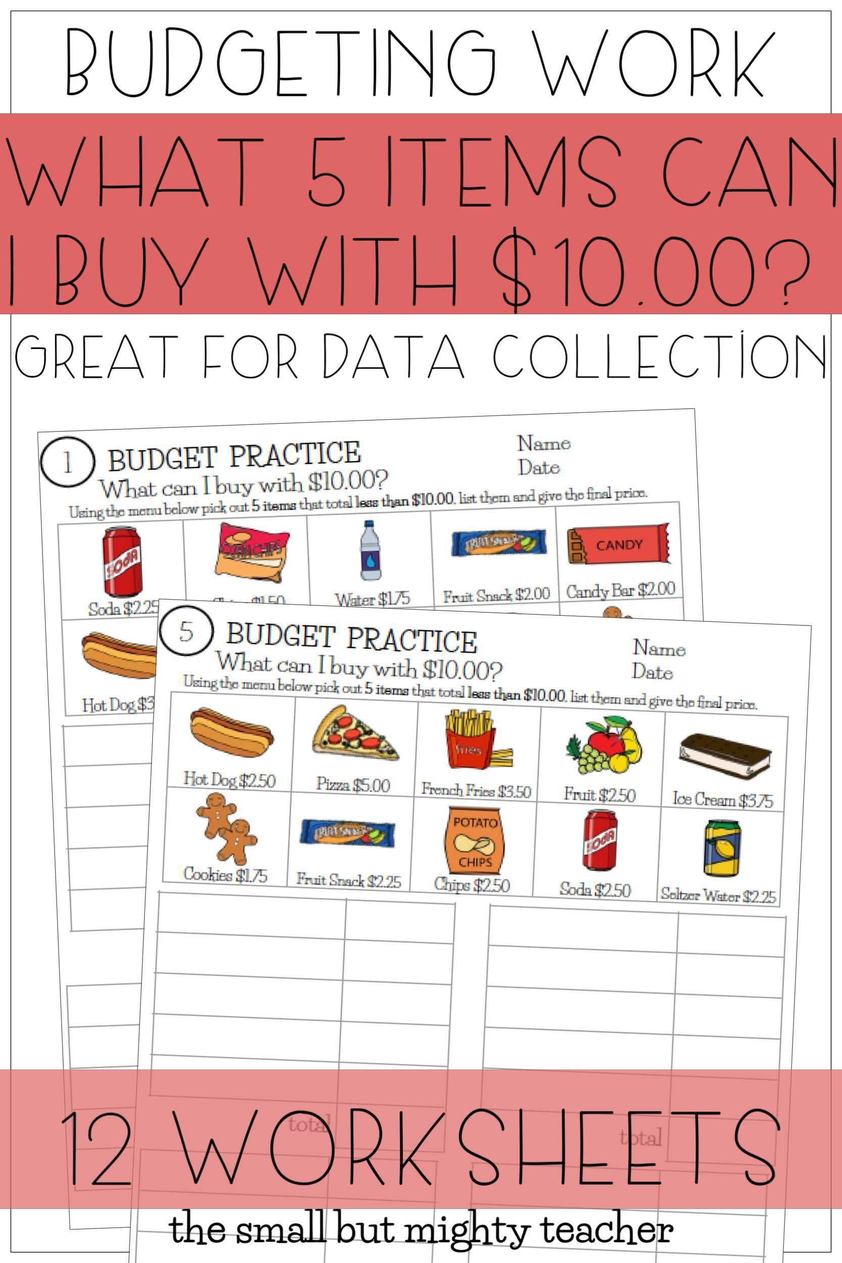Budget Up To 10 Math Worksheets Math Worksheets Life Skills Money Skills [ 2500 x 1666 Pixel ]
