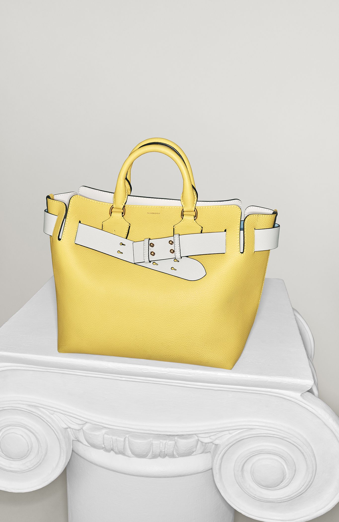 For a limited time, an additional contrast-coloured belt is included   TheBeltBag. A  Burberry belted tote ... cc948ae617