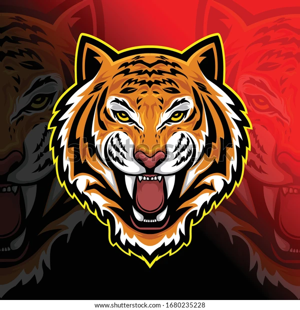 Tiger Head Vintage Style Illustration Stock Vector (Royalty Free) 1680235228
