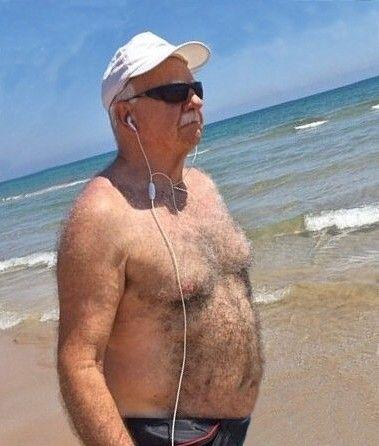 Silver chest grandpa porn that