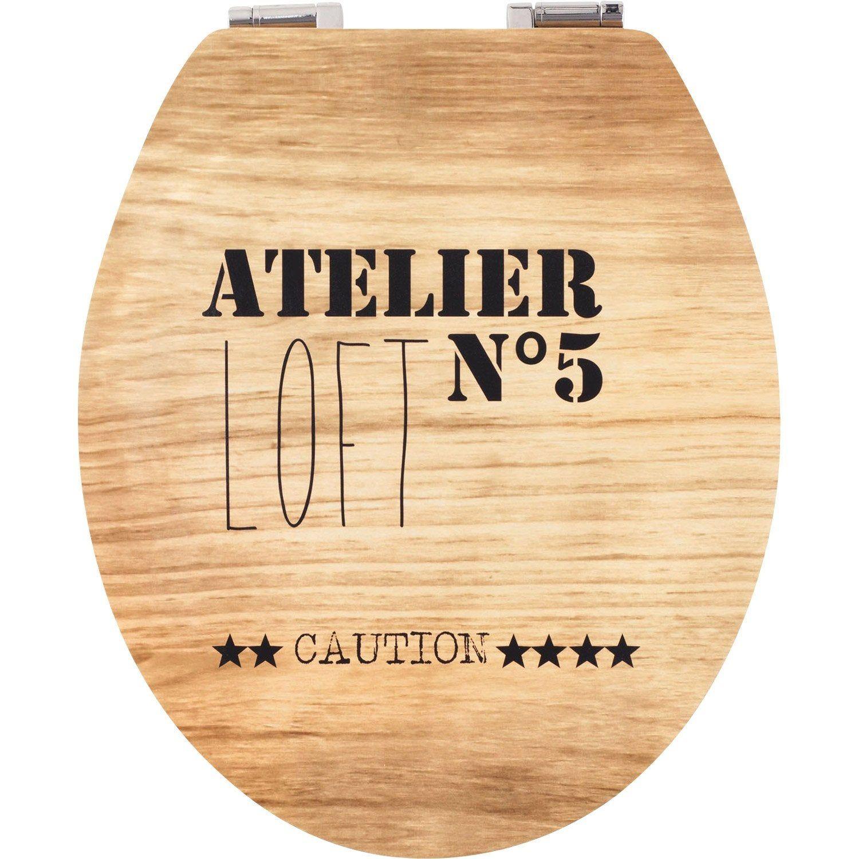 Abattant Les Fantaisies Decores Declipsable Avec Frein De Chute Mdf Abattant Toilette Abattant Et Abattant Wc