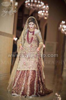 40ee6a7c9623 Best Bridal Barat Dresses Designs Collection 2017-18 for Wedding Brides