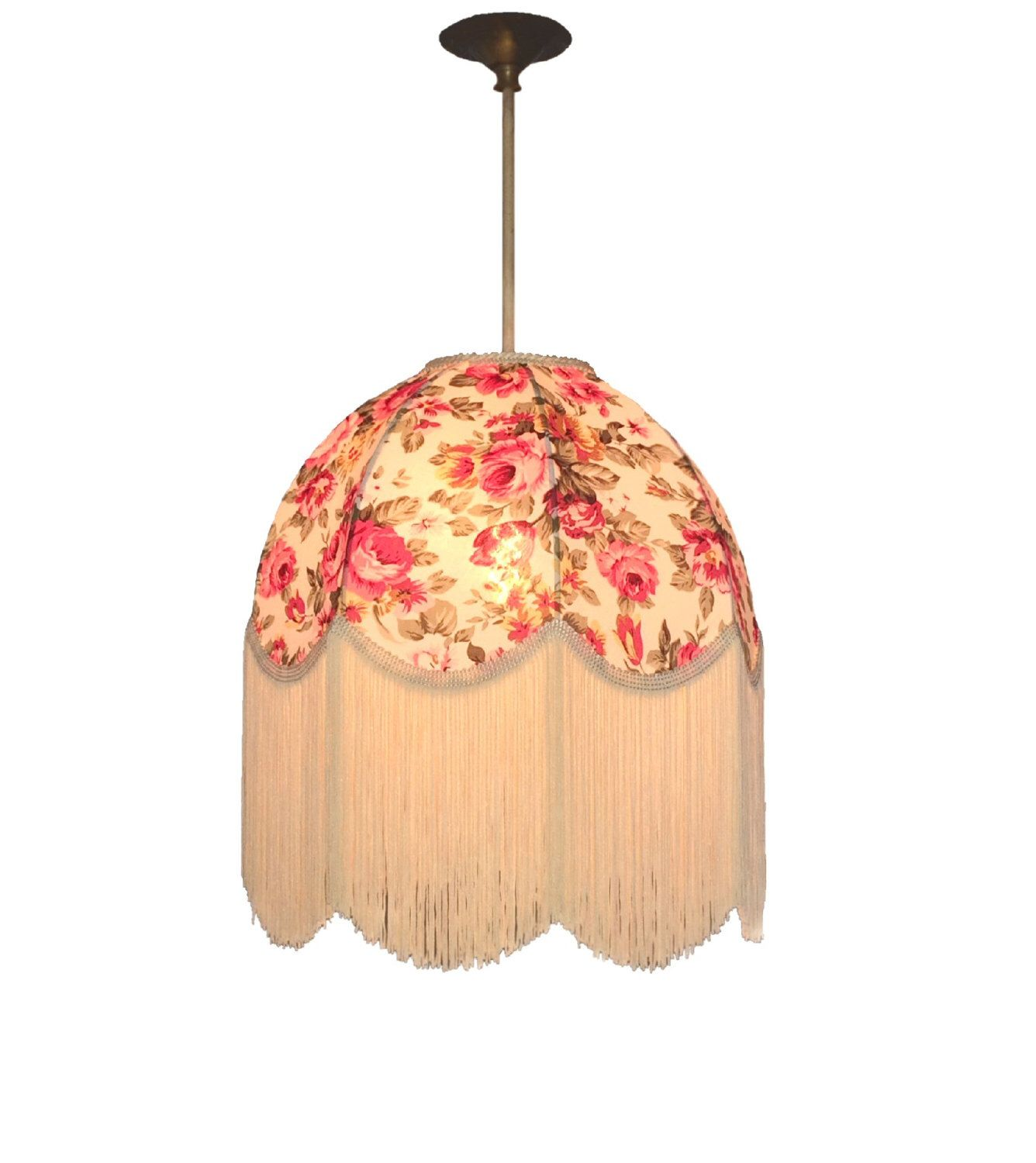 Vintage lamp floral traditional lampshade lamp shade light shade vintage lamp floral traditional lampshade lamp shade light shade ceiling pendant floor lamp design pattern rose by littlepeglamps on etsy aloadofball Choice Image