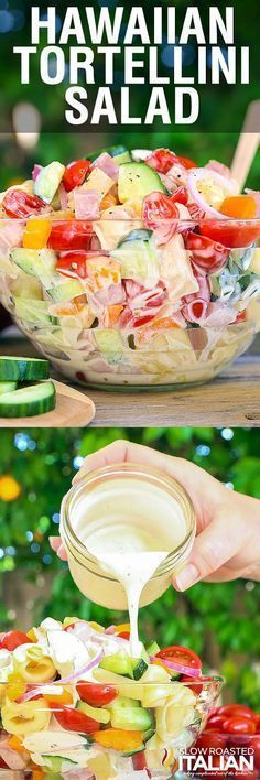 Hawaiian Tortellini Salad is a like a party in your mouth! It's a blend of y... -