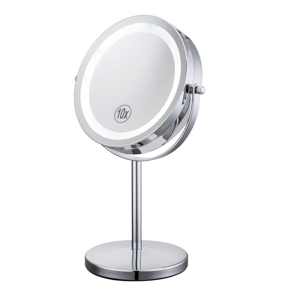 Alhakin 7 Inch 10x Magnification Led Lighted Makeup Mirror Mirror Table Makeup Mirror With Lights Mirror