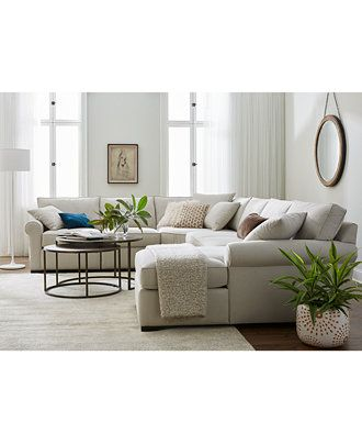 Astra Fabric Sectional Collection Created For Macy S Family