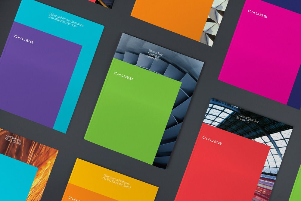 New Logo And Identity For Chubb By Collins Identity Logo Corporate Identity Design Wellness Design