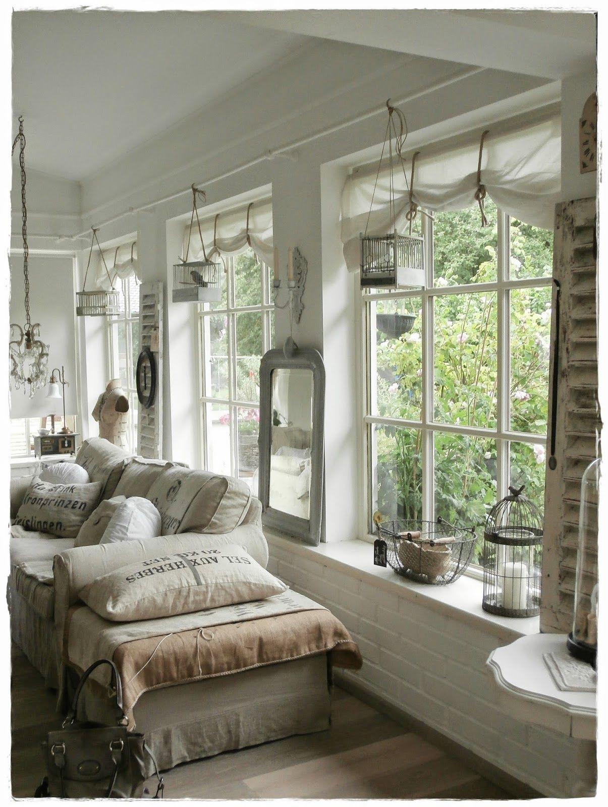 Shabby Landhaus Wohnen, Wohnung, Chic wohnzimmer