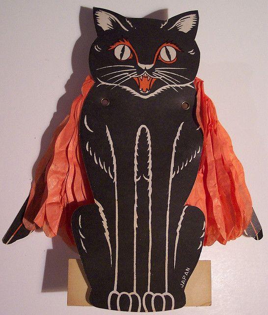 Vintage Halloween Black Cat   by riptheskull, via Flickr