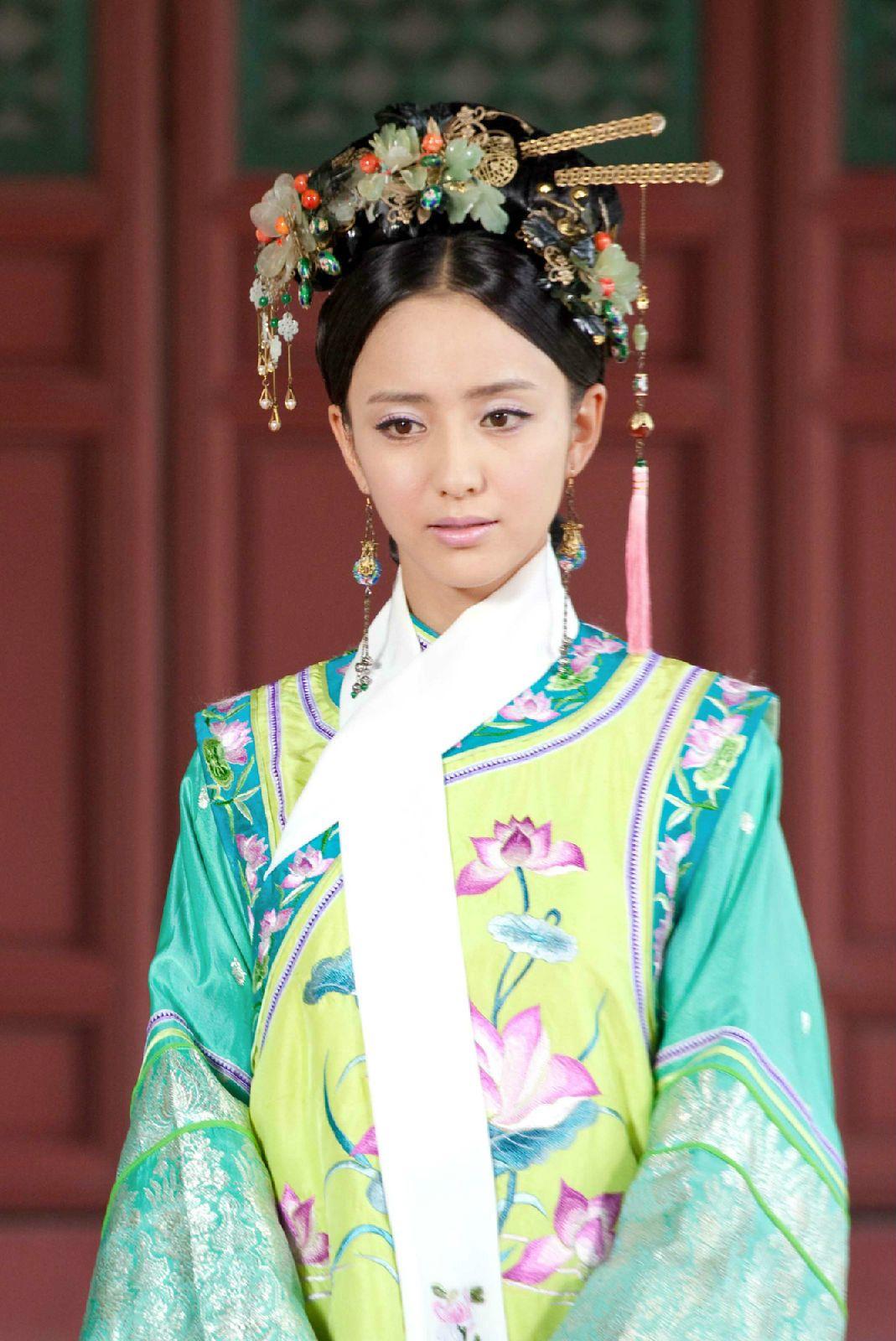 Qing Dynasty Women Clothing Hat Women's clothin...