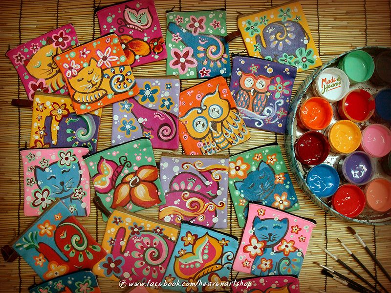 Made In Heaven Handmade Art And Craft In Thailand Hand Painted Bag And Any Stuff T Shirt Scarf Hat Etc Each Fall Crafts Summer Preschool Crafts Crafts