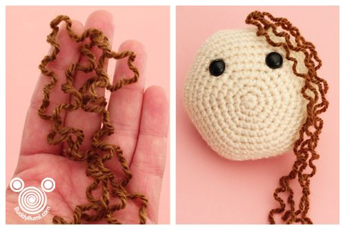 Discovered a new way of doing hair on amigurumi (using felting ... | 333x500