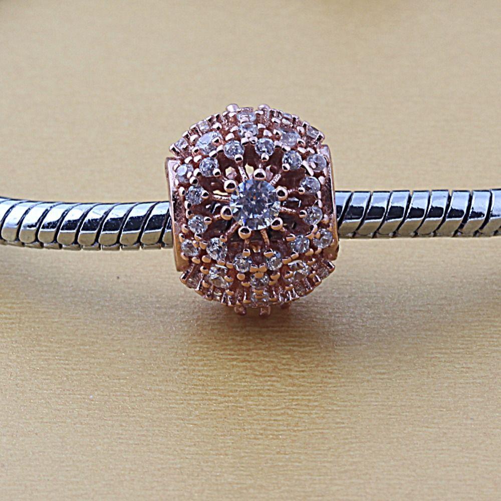 Zmzy jewelry sterling silver fit pandora bracelets original rose