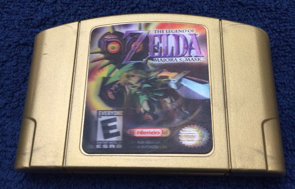 Excited To Share This Item From My Etsy Shop Legend Of Zelda Majora S Mask Nintendo 64 N64 Collector S Edition Hologram Label Ohio Majoras Mask Geekery Etsy