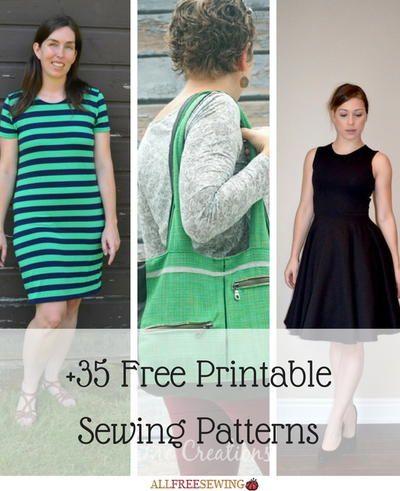 45 Free Printable Sewing Patterns | Pinterest | Free printable ...