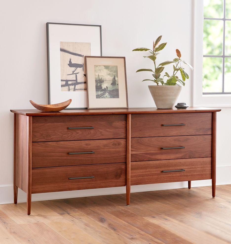 Shaw Walnut 6-Drawer Dresser   Bedroom furniture sets ...