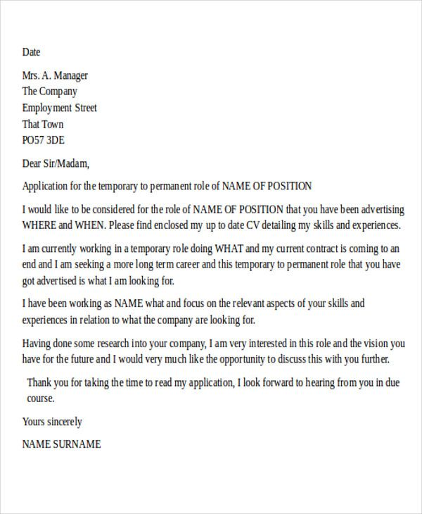job letter format graphc design cover Home Design Idea - temporary employment contract