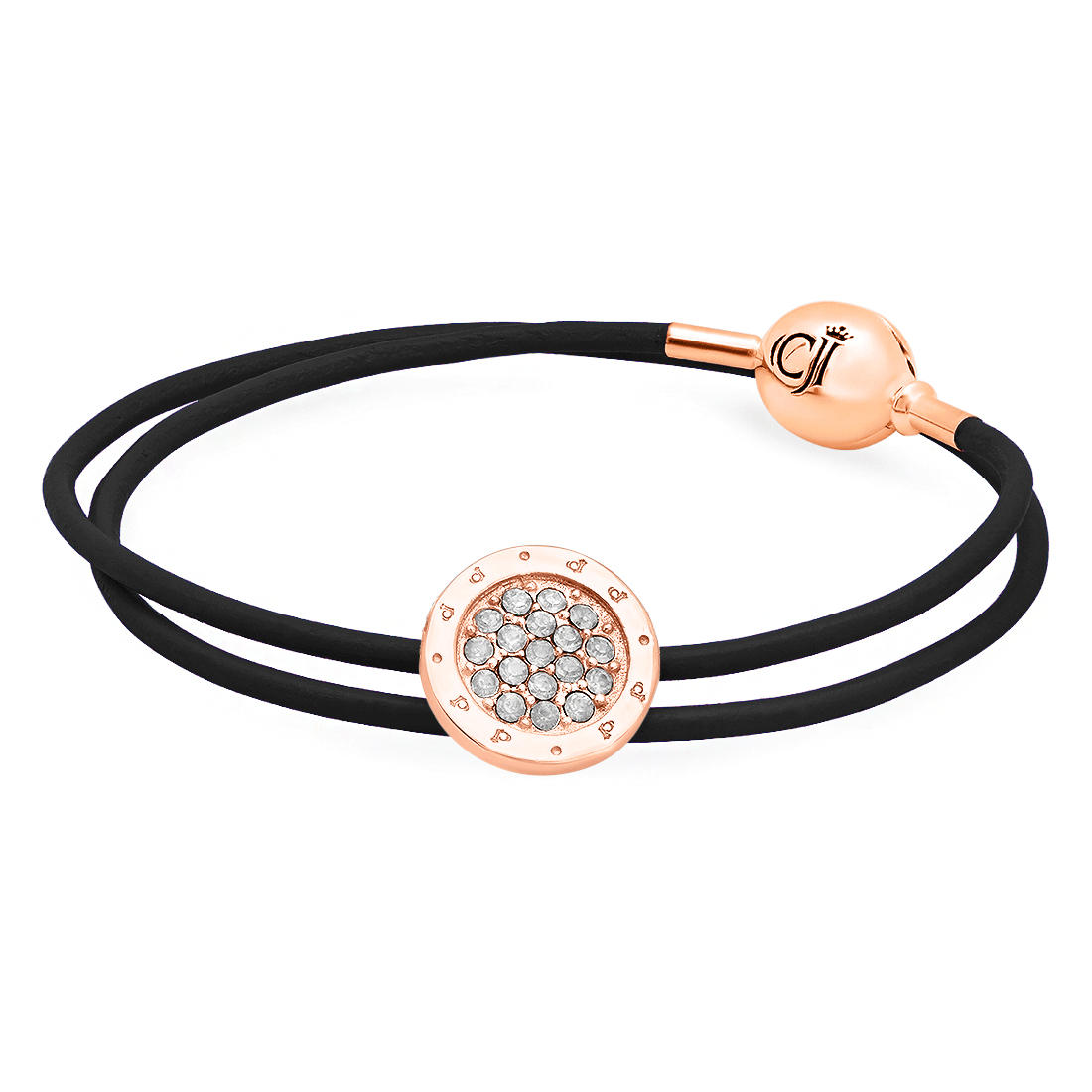 CJ Minimalista White Opal Ingenuity Rose Silver Necklace