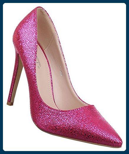1b0e03cd29c35 Damen Pumps Schuhe High Heels Stiletto Abendschuhe Pink 37 - Damen ...