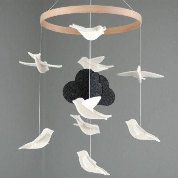kleine vögelchen mit wolke | basteln | pinterest | origami kranich, Hause und Garten