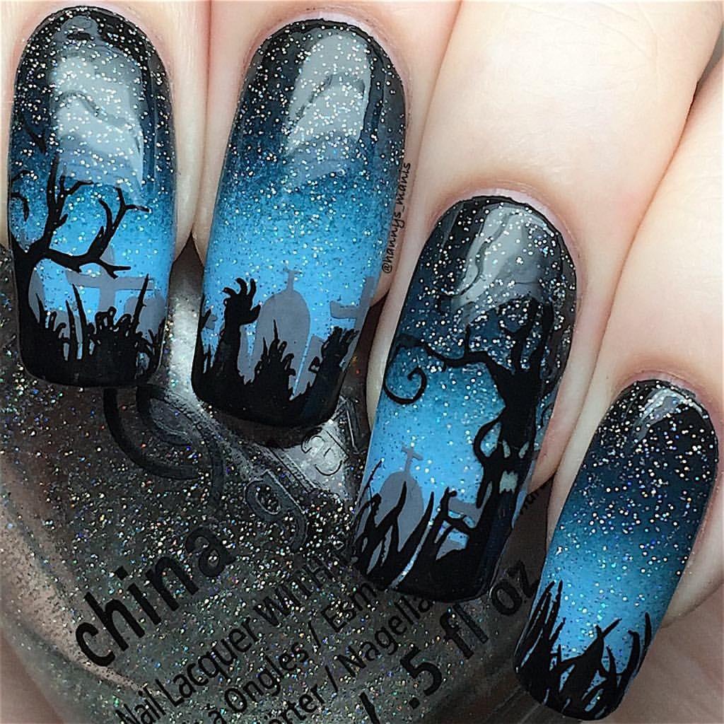 Pin by Kristin Ramsey on Holiday Nail Art | Halloween nail ...