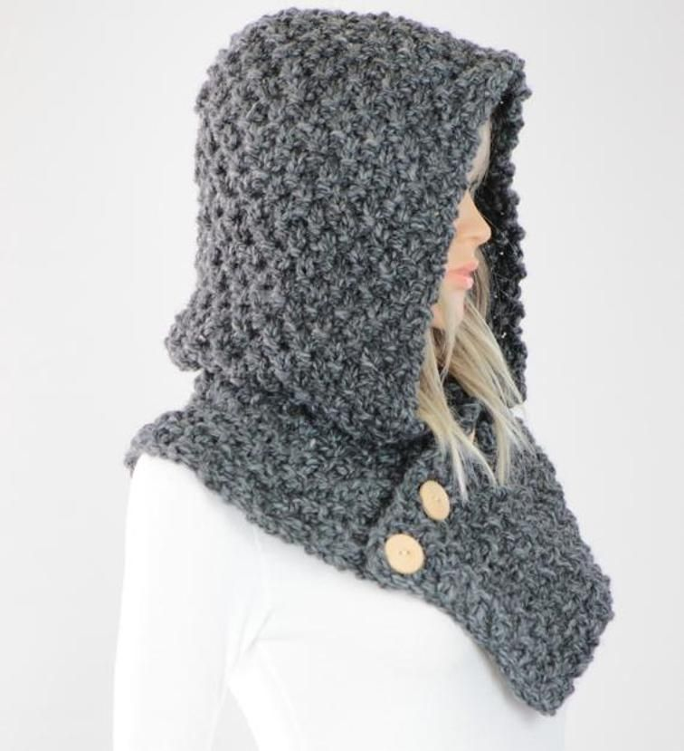 Oslo Knit Hooded Cowl #25 CCP | Hooded cowl, Knit patterns and Patterns