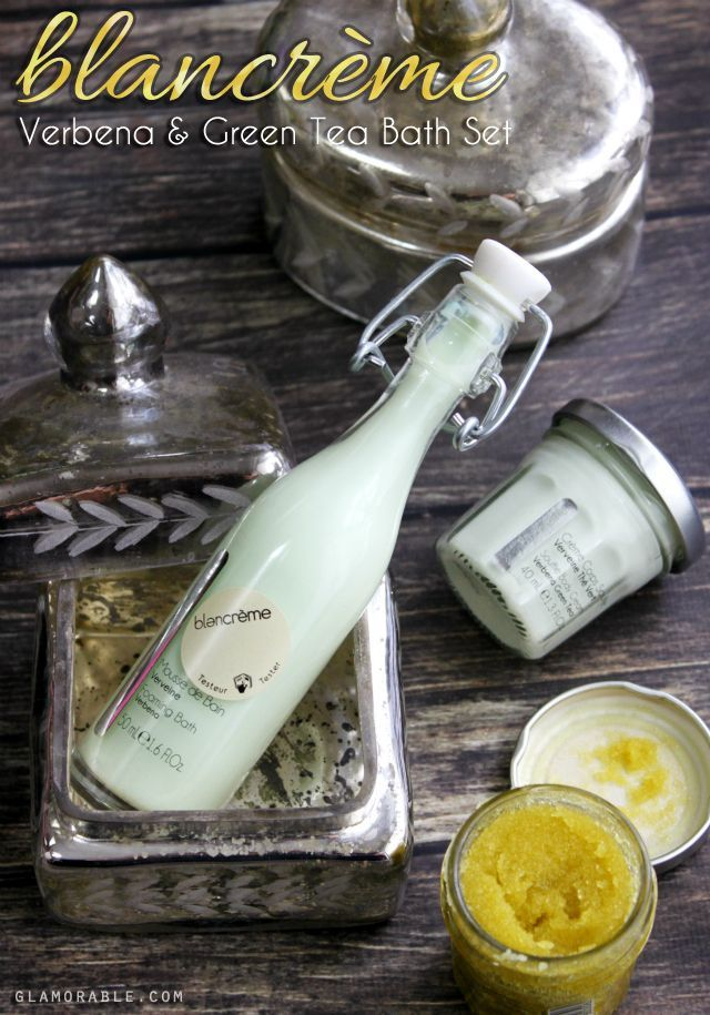 Blancrème Paris Verbena & Green Tea Bath Set Review - glamorous cruelty-free skin care from France >> http://bit.ly/1A2Iik5 | via @glamorable