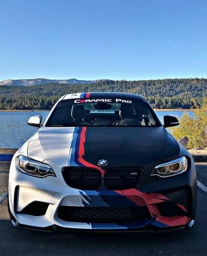 Bmw M2 Sport: BMW F87 M2 White Black ///M Stripe Ceramic Pro