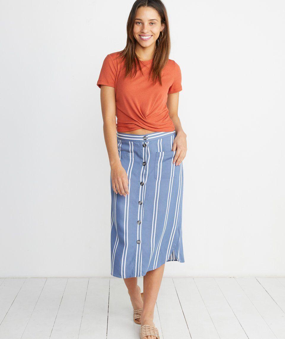 4d837c535772c2 Tess Midi Skirt in 2019 | Fashion | Midi Skirt, Skirts, Elastic waist
