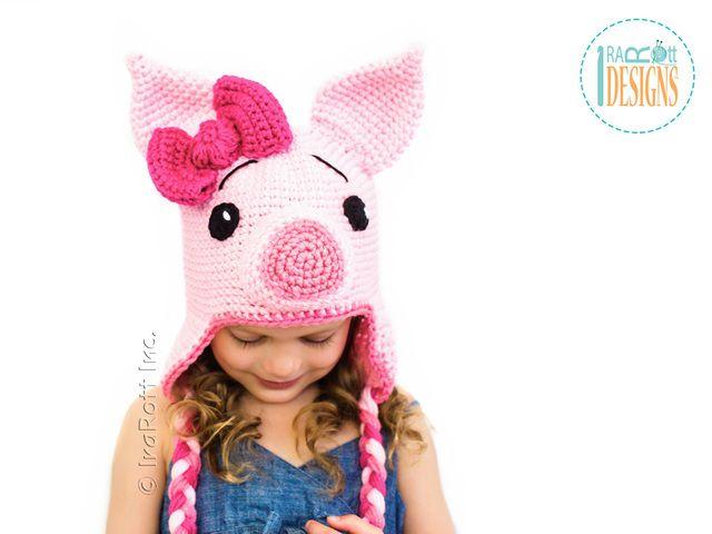 Pinky Piggy Hat PDF Crochet Pattern   DIY   Pinterest   Gorros ...