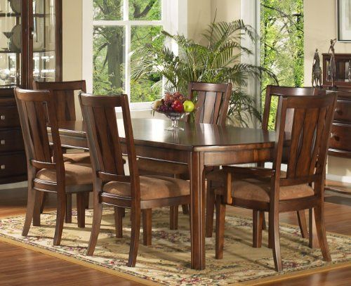 Rhythm 7 Piece Dining Set 4 Side Chairs & 2 Arm Chairs  Http Best 2 Piece Dining Room Set Review