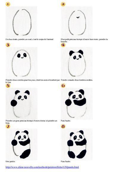 Comment Dessiner Un Panda Panda Drawing Easy Drawings Drawings