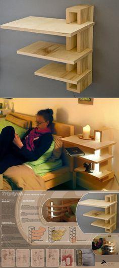 Mesita Repisa Aerea Cerca Cama Diy Muebles Ideas Bricolaje Para