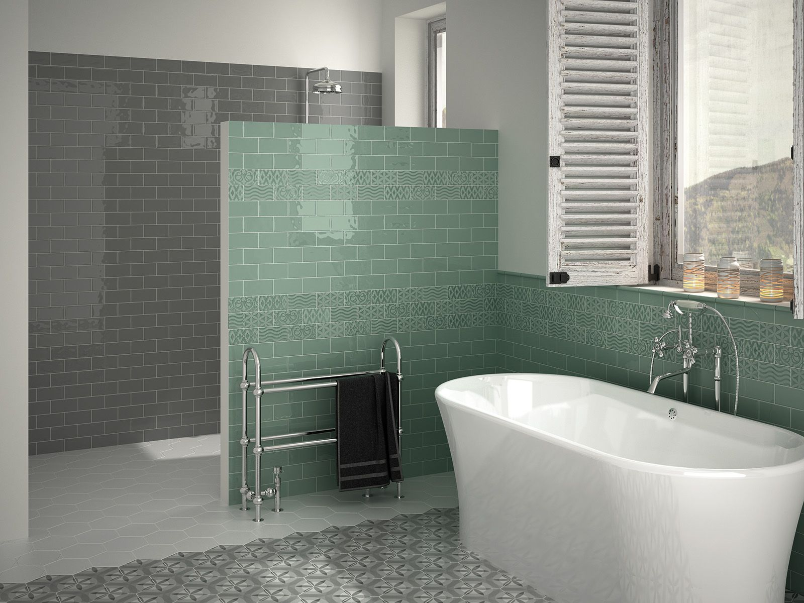 Rustic Country Style Wall Tiles For Bathrooms And Kitchens Lovely Mint Green Colour Brick Tiles Bathroom Tile Bathroom Bathroom Colors