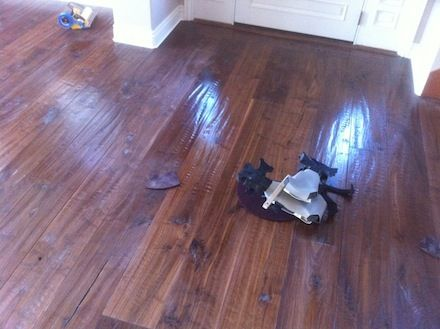Wood Floor Before And After Tung Oil Buffed Farmhouse