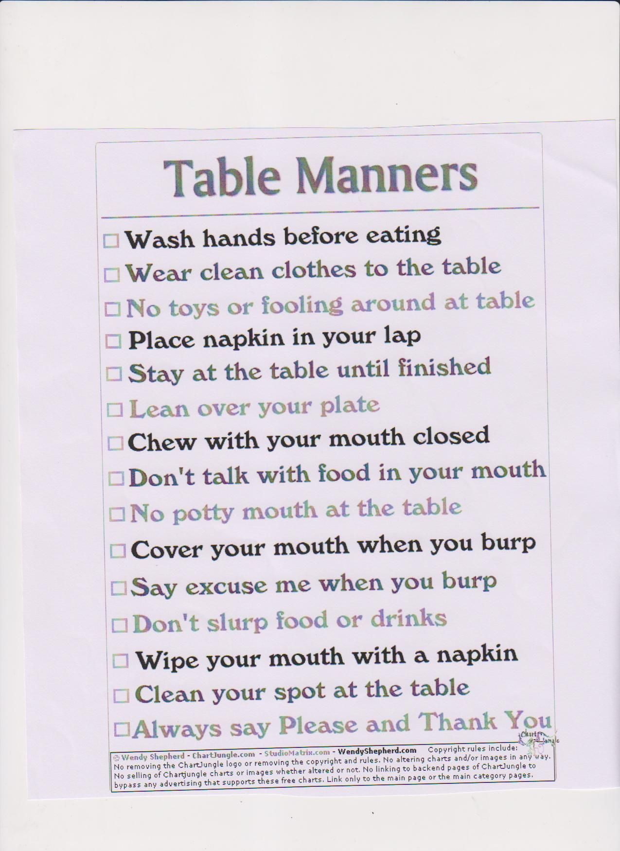 Worksheets Table Manners Worksheet table manners respectmanners pinterest for kids in the future