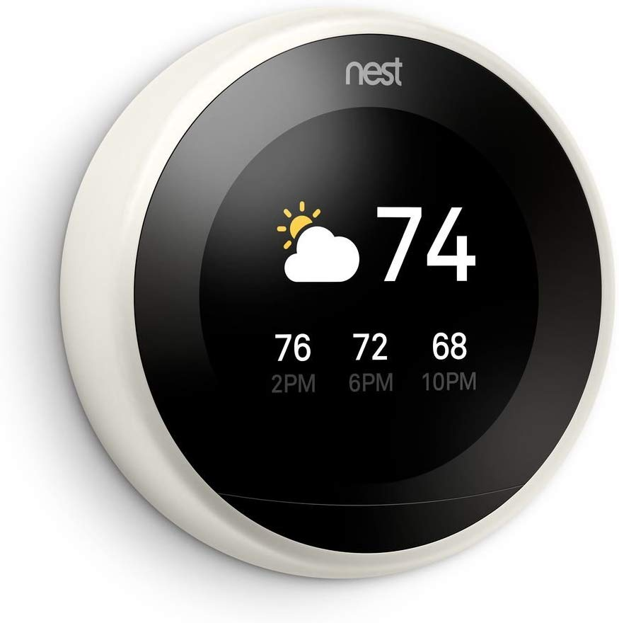 Google T3007es Nest Learning Thermostat 3rd Gen Smart Thermostat Stainless Steel Works With Alex Nest Learning Nest Learning Thermostat Smart Thermostats