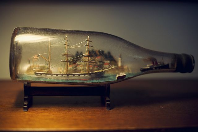 Ship in a Bottle. Perfect for the office.
