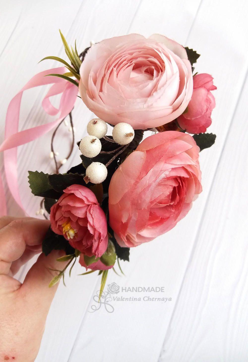 Peach flower crown bridal wreath hair boho silk flowers crown peach flower crown bridal wreath hair boho silk flowers crown izmirmasajfo