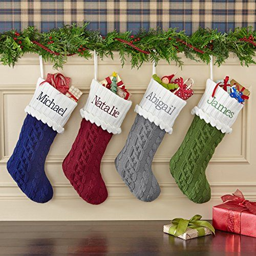 Plain Christmas Stocking Knitting Pattern : Cable knit christmas stockings ? Pinteres?