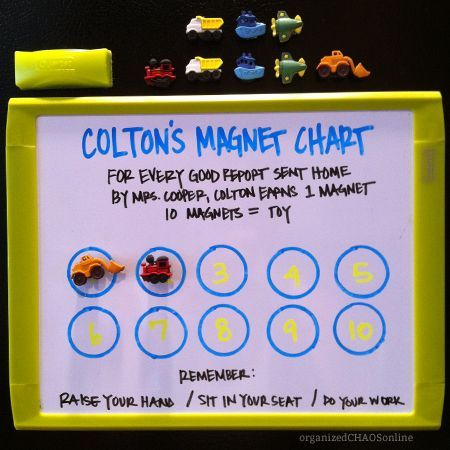 Magnetic Chore Chart | Magnets & Magnetic Toys | Pinterest