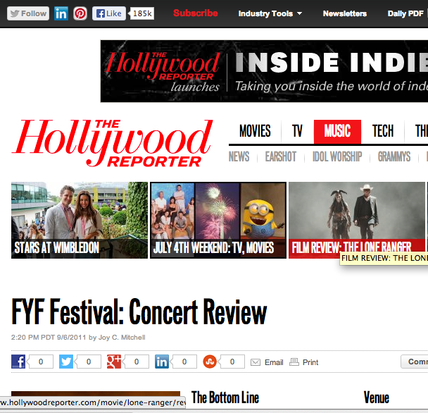 The Hollywood Reporter Freelance Writer Concert Review Writing Jobs Music Tech Writing Career