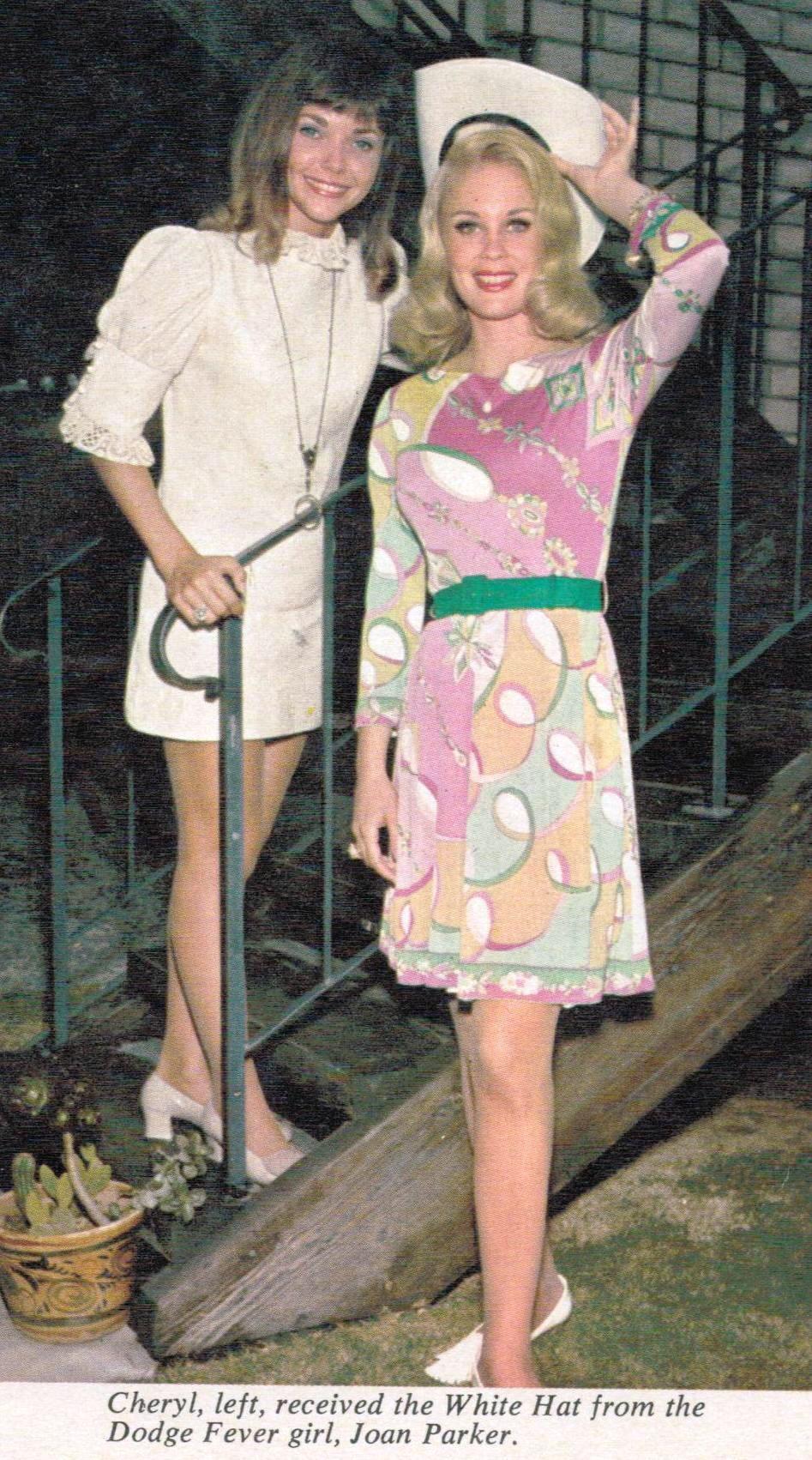 '70's Dodge fever Girl Cheryl Miller (left) and the original '60's Dodge Fever girl Joan Parker