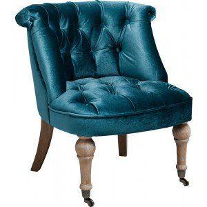 Teal Versailles Velvet Chair