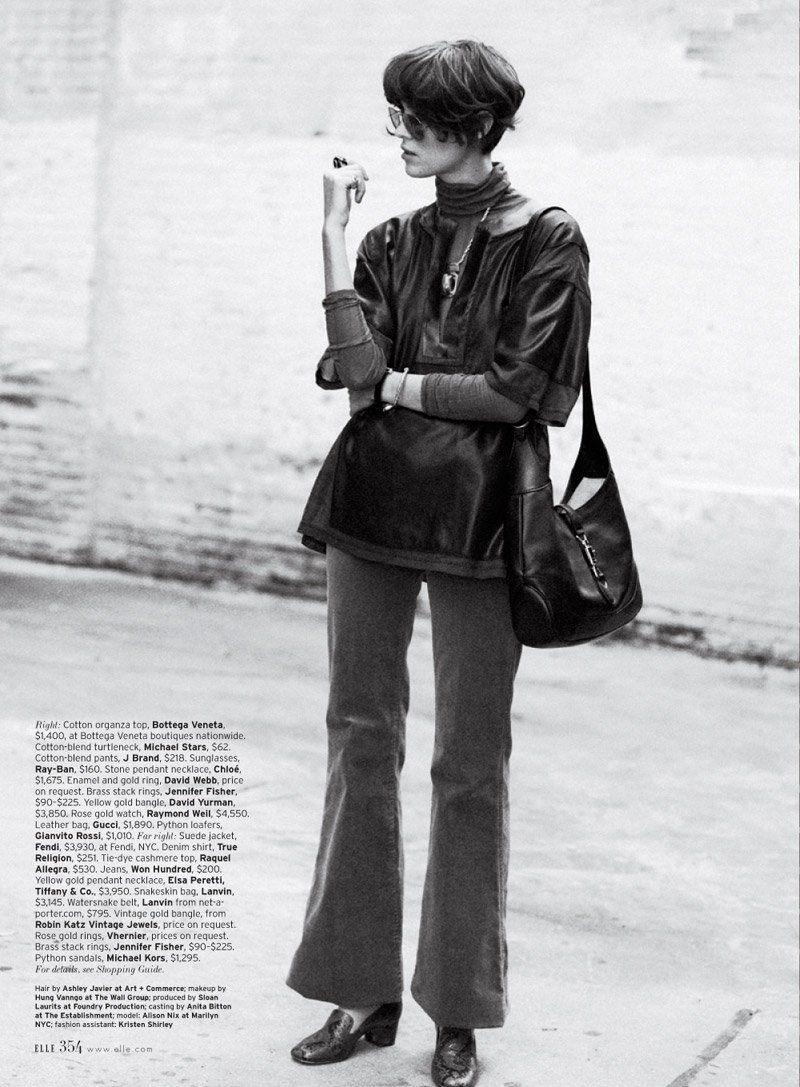 """Girl on a Ledge"" Elle Magazine Apr 12 Photographer: KT Auleta Stylist: Kate Lanphear Model: Alison Nix"