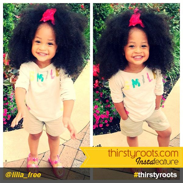 InstaFeature: little girl big curly natural hair @lilia_free | Girl haircuts, Kids braided ...