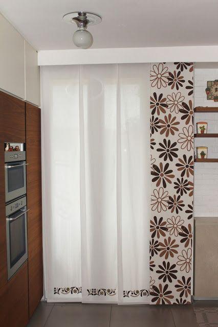 Tende a pannello cortinas ingrid pinterest for Binari per tende a soffitto leroy merlin