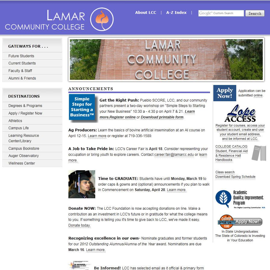 Lamar Community College Is The Smallest Of The Colorado Community Colleges In Was Established In 1937 In Lamar In Community College College Colorado College